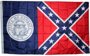 Old Georgia 3'x5' polyester Rebel GA flag