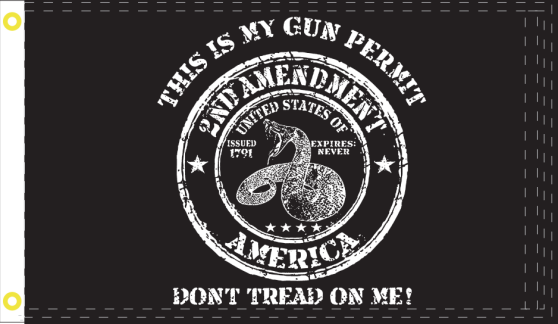 2nd Amendment Don't Tread On Me 3'X5' Flag Rough Tex® 100D