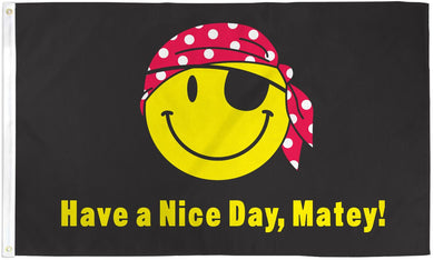 Pirate Happy Face 3'X5' Flag Rough Tex® Polyester