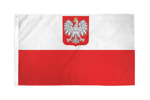 Old Poland Flag 3x5ft Nylon 210D