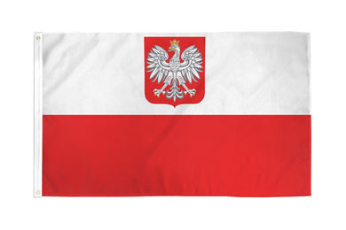 Old Poland Flag 3x5ft Nylon 210D Double Sided