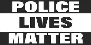 Police Lives Matter Black And White -  Bumper Sticker