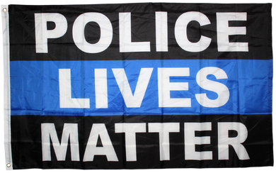 Police Lives Matter 3x5ft Nylon 150D Flag Rough Tex Thin Blue Line