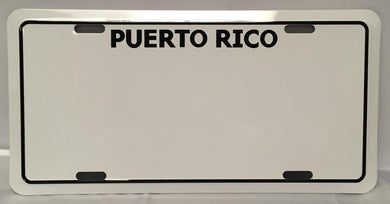 Puerto Rico Plain License Plate