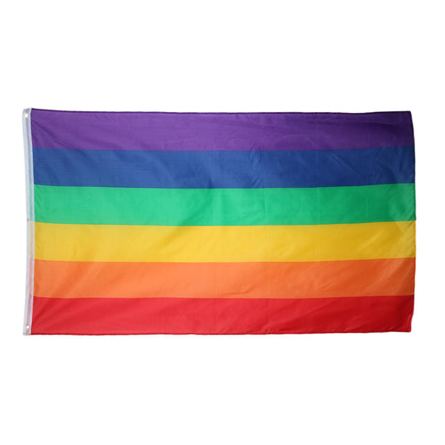 Rainbow Pride Flag 2x3ft Poly