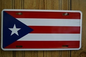 Puerto Rico Flag License Plate