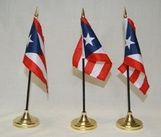 Puerto Rico 4x6in Stick Flag