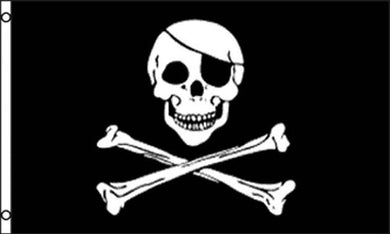 Jolly Roger Patch 3'x5' poly flag