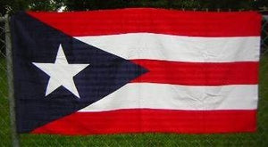Puerto Rico Beach Towel Plain Flag