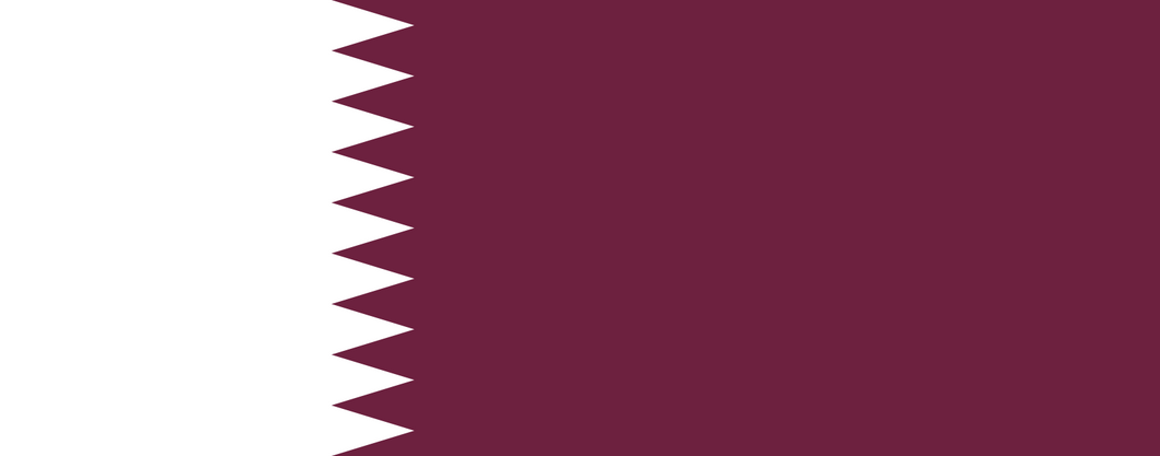 Qatar Flag 3x5ft Poly