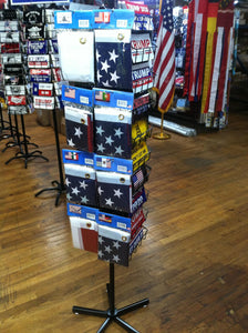 FLAG & BUMPER STICKER SPINNING RACK WHOLESALE PROGRAM SUPER SALE RETAILER SPECIAL