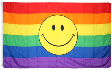 Rainbow Smile 3'x5' polyester