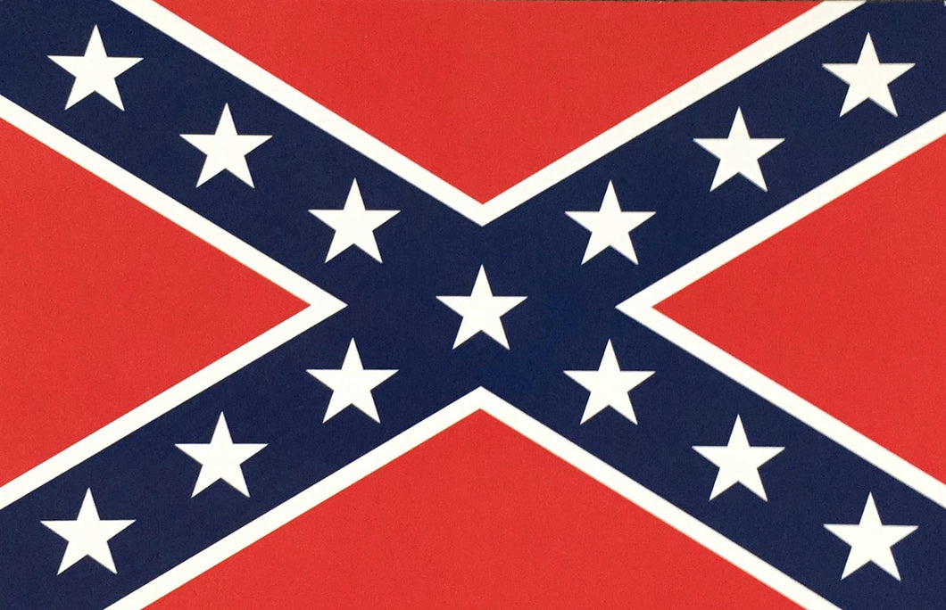 REBEL FLAG CONFEDERATE BATTLE NAVAL JACK BUMPER STICKERS PACK OF 50