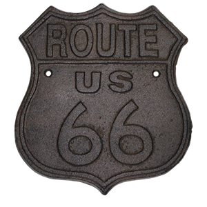 Cast Iron Rt. 66 Sign