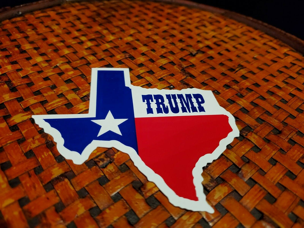 Trump Texas Map Bumper Sticker