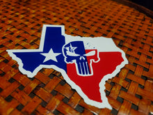 Texas Punisher Map Bumper Sticker