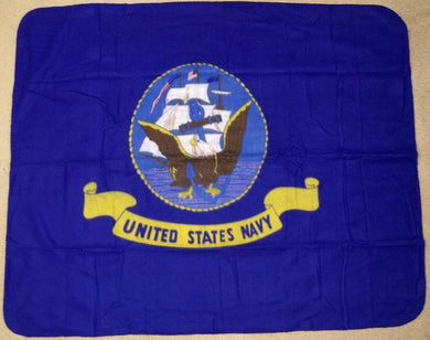 US Navy Flag Deluxe Polar Fleece Blanket