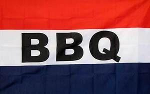 BBQ Red/White/Blue Business Flag 3x5ft 100D