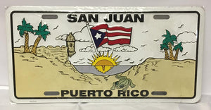 San Juan Flag Puerto Rico License Plate