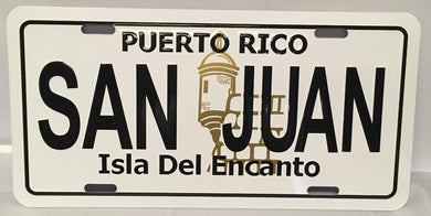 San Juan Puerto Rico Plain License Plate