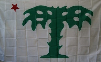 12 3'X5' PALMETTO GUARD SOUTH CAROLINA CSA 75D FLAGS BY THE DOZEN WHOLESALE PER DESIGN!