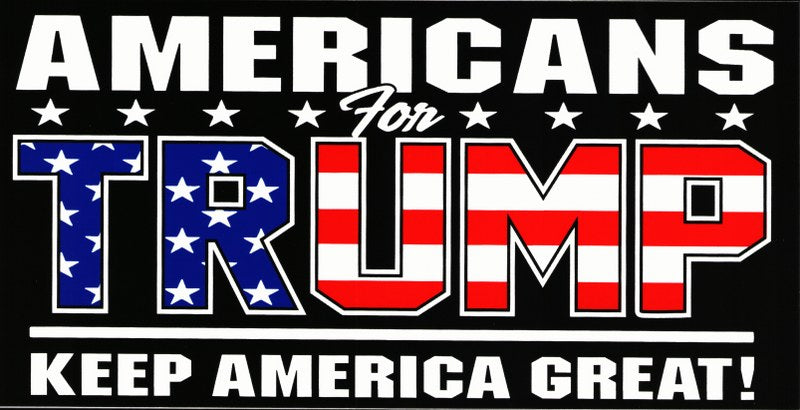Americans for TRUMP Bumper Sticker
