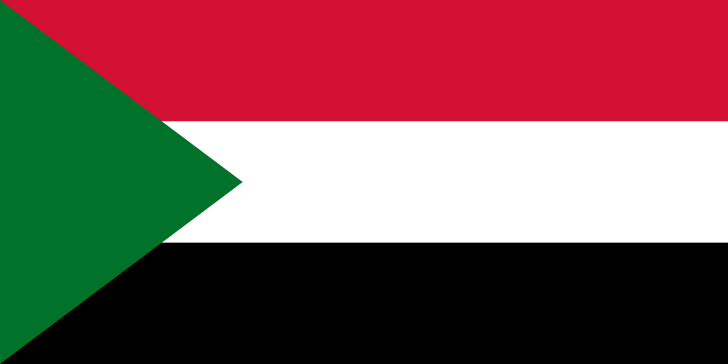 Sudan Flag 3x5ft Poly