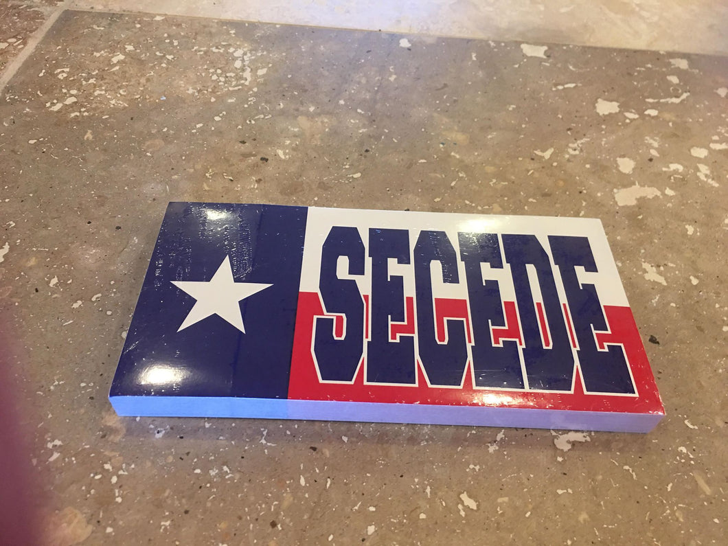 TEXAS SECEDE TEXAN FLAG BUMPER STICKER PACK OF 50 BUMPER STICKERS MADE IN USA WHOLESALE BY THE PACK OF 50!