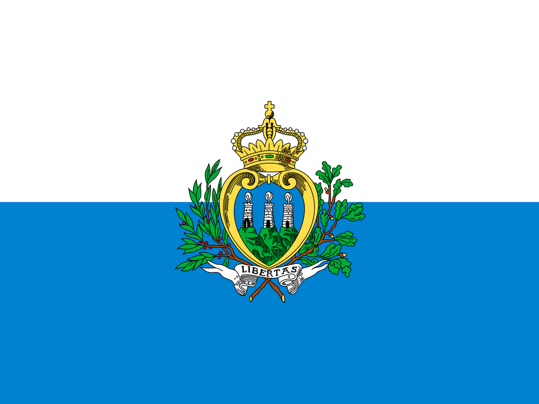 San Marino Flag 3x5ft Poly