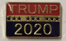 Trump 2020 Red and Blue- Cloisonne Hat & Lapel Pin