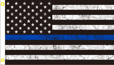 USA POLICE MEMORIAL VINTAGE TACTICAL BLUE LINE 3'x5' 100D Flag Rough Tex ® American History