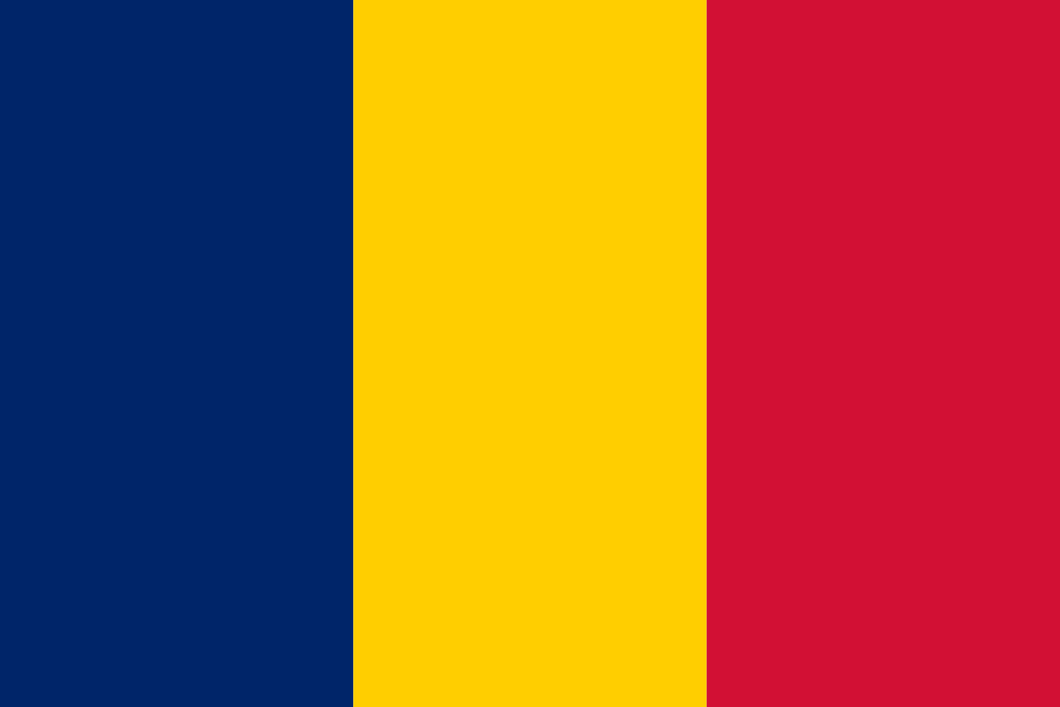 Chad Flag 3x5ft Poly