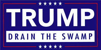 Trump Drain the Swamp Bumper Sticker