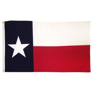 TEXAS 3'X5' COTTON FLAG ALL-SEWN & EMBROIDERED