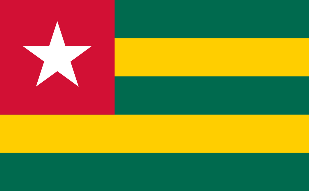 Togo Flag 3x5ft Poly