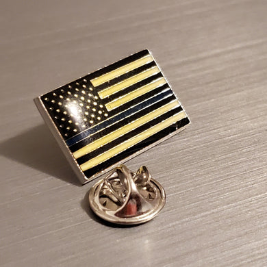USA Police Memorial Thin Blue Line Police- Cloisonne Hat & Lapel Pin US POLICE MEMORIAL PINS