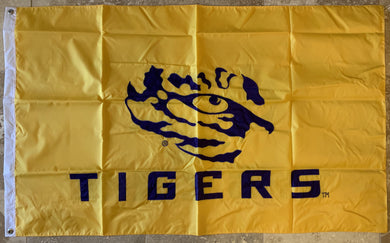LSU Louisiana State University Tigers Officially Licensed College Flag- USC® 3'X5'TIGERS®  Premium Applique Two-Sided Flag Flag 3'X5'