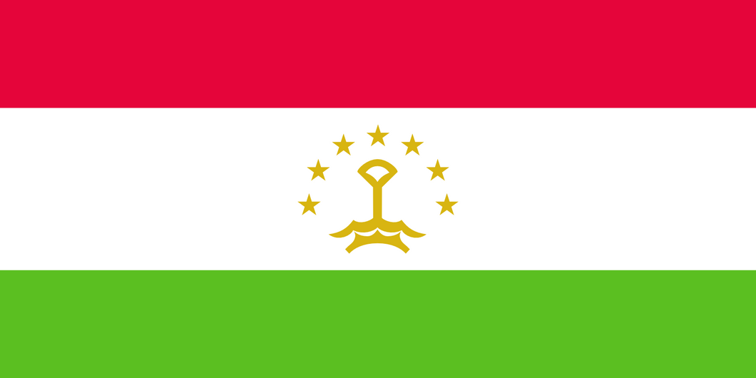 Tajikistan Flag 3x5ft Poly