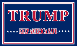 Trump Keep America Safe KAS 3'X5' Flag Rough Tex® 100D