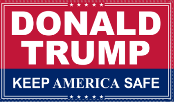 Donald Trump Keep America Safe KAS Red & Blue 3'X5' Flag Rough Tex ® 100D