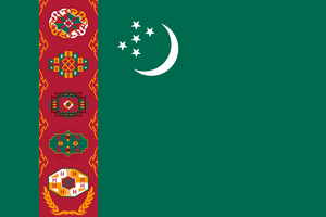 Turkmenistan Flag 3x5ft Poly