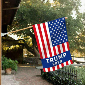 Trump Blue Ribbon With Sleeve 3'X5' Flag Rough Tex® 100D