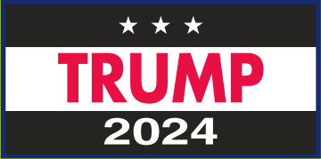 Trump 2024 Black & White Bumper Sticker