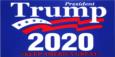 Trump 2020 bumper sticker pack of 50