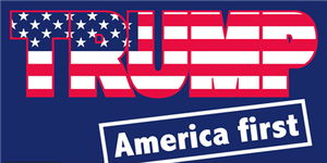 Trump America First Pack of 50 bumper stickers