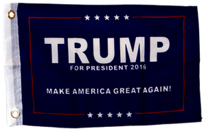 "Trump I Boat Flag 12""x18"" with grommets single sided"