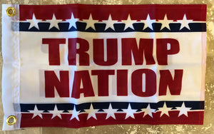 72 Assorted Trump Boat Flags Trump Nation Boat Flag 12x18 Inches Double Sided