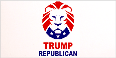 TRUMP REPUBLICAN Pack of 50 bumper stickers