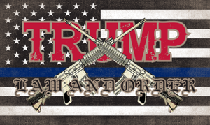 USA Police Trump Law And Order 3'X5' Flag Rough Tex® 100D