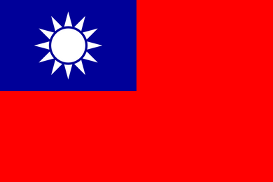 Taiwan Flag 3x5ft Poly